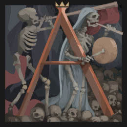 Обложка к диску с музыкой из игры «Ash of Gods: Redemption»