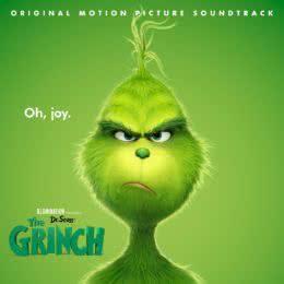 Обложка к диску с музыкой из мультфильма «Гринч»