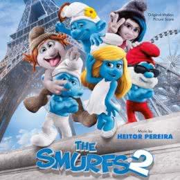 Обложка к диску с музыкой из мультфильма «Смурфики 2»