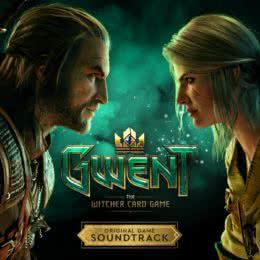 Обложка к диску с музыкой из игры «Гвинт: Ведьмак. Карточная игра»