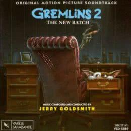 Обложка к диску с музыкой из фильма «Гремлины 2: Новенькая партия»