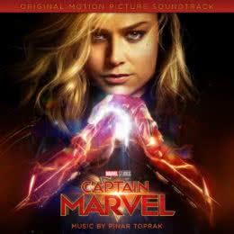 Обложка к диску с музыкой из фильма «Капитан Марвел»