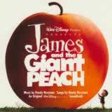 Маленькая обложка диска c музыкой из мультфильма «Джеймс и гигантский персик»