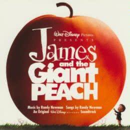 Обложка к диску с музыкой из мультфильма «Джеймс и гигантский персик»