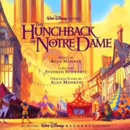 Обложка к диску с музыкой из мультфильма «Горбун из Нотр-Дама»