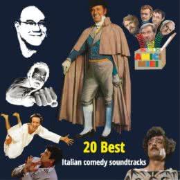 Обложка к диску с музыкой из сборника «20 Best Italian Comedy Soundtracks»