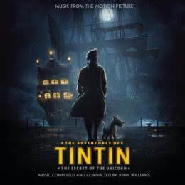 Обложка к диску с музыкой из мультфильма «Приключения Тинтина: Тайна «Единорога»»