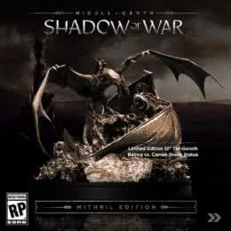 Обложка к диску с музыкой из игры «Middle-earth: Shadow of War»