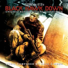 Обложка к диску с музыкой из фильма «Чёрный ястреб»