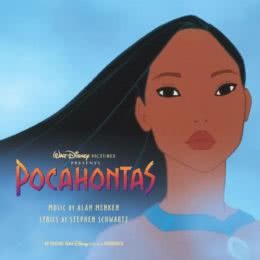 Обложка к диску с музыкой из мультфильма «Покахонтас»