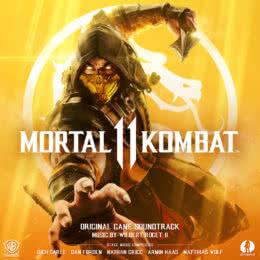 Обложка к диску с музыкой из игры «Mortal Kombat 11»