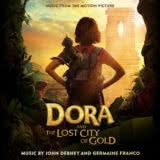 Маленькая обложка к диску с музыкой из фильма «Дора и Затерянный город»