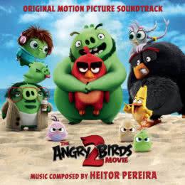 Обложка к диску с музыкой из мультфильма «Angry Birds 2 в кино»