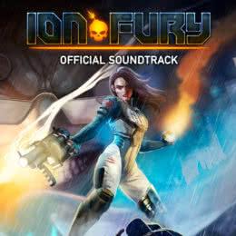 Обложка к диску с музыкой из игры «Ion Fury»