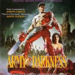 Обложка к диску с музыкой из фильма «Зловещие мертвецы 3: Армия тьмы»