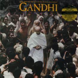 Обложка к диску с музыкой из фильма «Ганди»