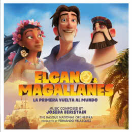 Обложка к диску с музыкой из мультфильма «Кругосветное путешествие Элькано и Магеллана»