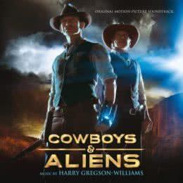 Обложка к диску с музыкой из фильма «Ковбои против пришельцев»