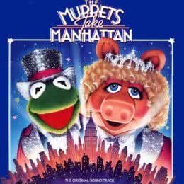 Обложка к диску с музыкой из фильма «Маппеты завоёвывают Манхэттен»