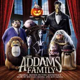Обложка к диску с музыкой из мультфильма «Семейка Аддамс»