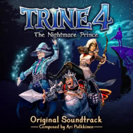 Обложка к диску с музыкой из игры «Trine 4: The Nightmare Prince»