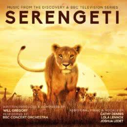 Обложка к диску с музыкой из сериала «Серенгети»