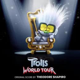 Обложка к диску с музыкой из мультфильма «Тролли. Мировой тур»