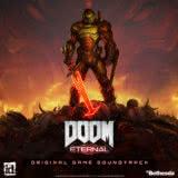 Маленькая обложка к диску с музыкой из игры «DOOM Eternal»