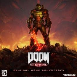 Обложка к диску с музыкой из игры «DOOM Eternal»