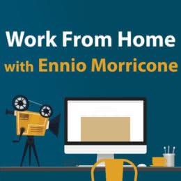 Обложка к диску с музыкой из сборника «Work from Home with Ennio Morricone»