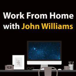 Обложка к диску с музыкой из сборника «Work from Home with John Williams»