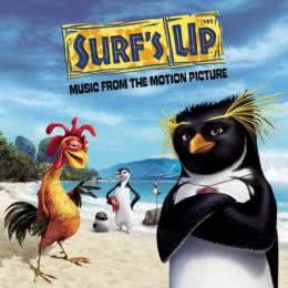 Обложка к диску с музыкой из мультфильма «Лови волну!»