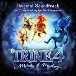Обложка к диску с музыкой из игры «Trine 4: Melody of Mystery»