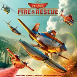 Обложка к диску с музыкой из мультфильма «Самолеты: Огонь и вода»