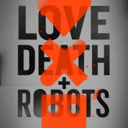 Обложка к диску с музыкой из сериала «Любовь, смерть и роботы (1 сезон)»