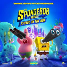 Обложка к диску с музыкой из мультфильма «Губка Боб в бегах»