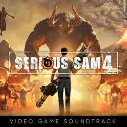 Обложка к диску с музыкой из игры «Serious Sam 4»