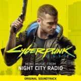 Маленькая обложка диска c музыкой из игры «Cyberpunk 2077: More Music from Night City Radio»