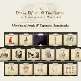 Обложка к диску с музыкой из сборника «The Danny Elfman & Tim Burton 25th Anniversary Music Box»