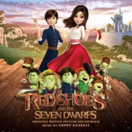 Обложка к диску с музыкой из мультфильма «Красные туфельки и семь гномов»