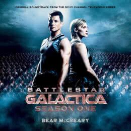 Обложка к диску с музыкой из сериала «Звёздный крейсер «Галактика» (1 сезон)»