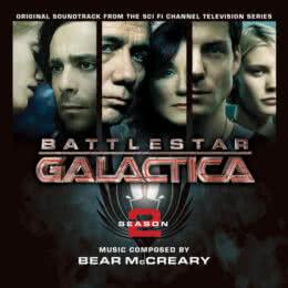 Обложка к диску с музыкой из сериала «Звёздный крейсер «Галактика» (2 сезон)»
