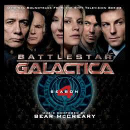 Обложка к диску с музыкой из сериала «Звёздный крейсер «Галактика» (4 сезон)»
