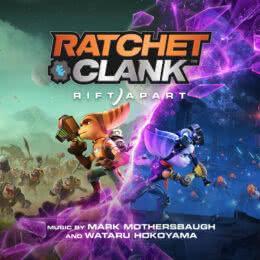 Обложка к диску с музыкой из игры «Ratchet & Clank: Rift Apart»